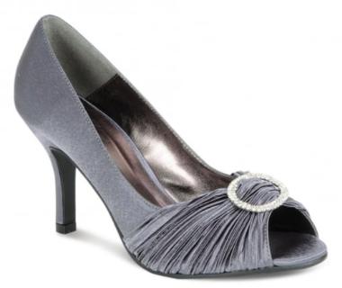 Ladies silver satin shoes | Lunar Shoes