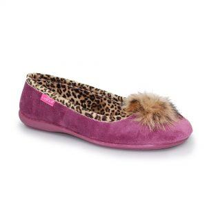 brooks leopard slipper