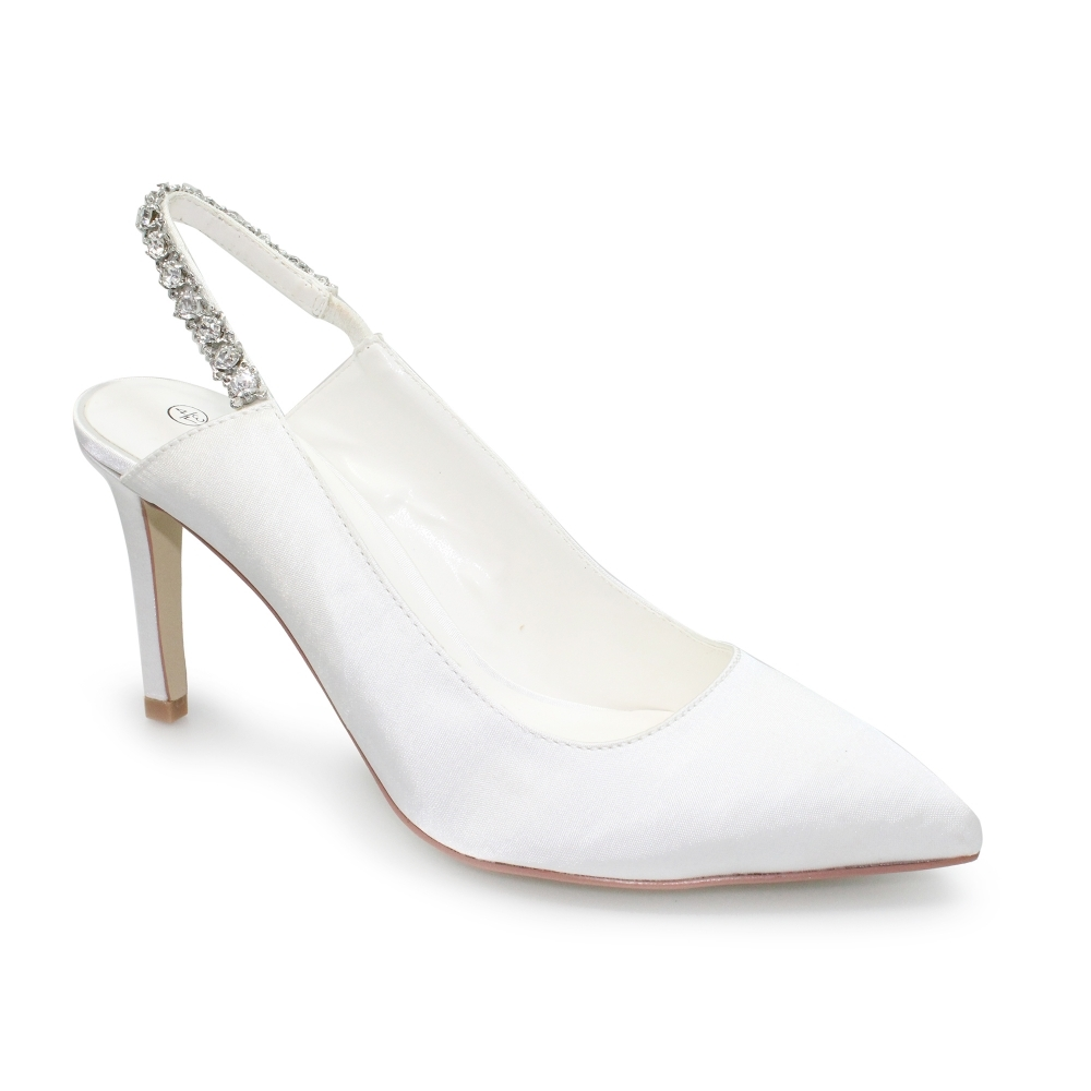 satin court shoe