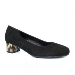 deja low block heel