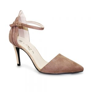 isla suede ankle strap court shoe