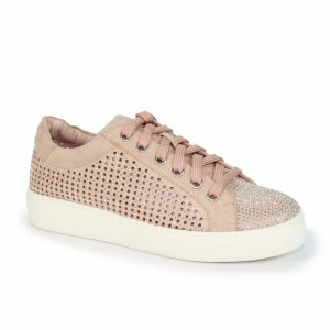 norway rhinestone lace up trainer