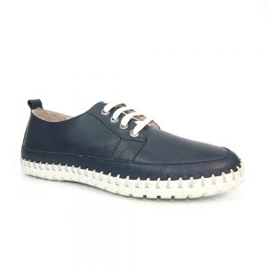 Newquay Soft Leather Plimsoll