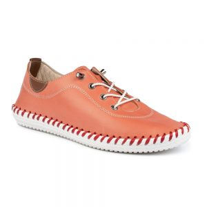 St Ives Leather Plimsoll