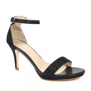 perdita glitter silk heels
